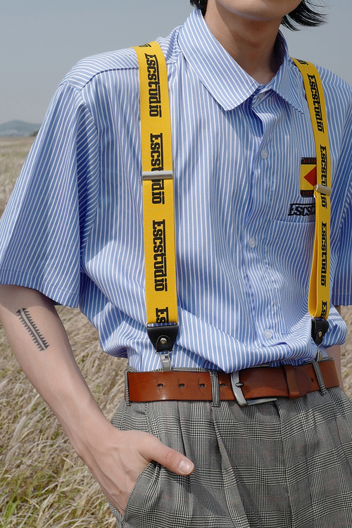 yellow logo suspender