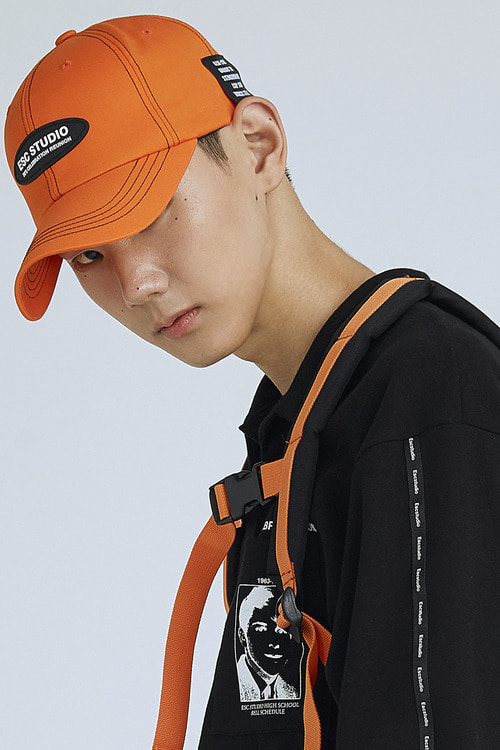 stitch ball cap(orange)