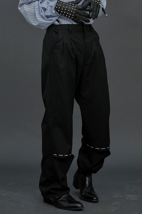 Leg open pants (Black)