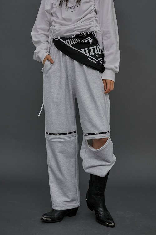 Open training pants (Gray)