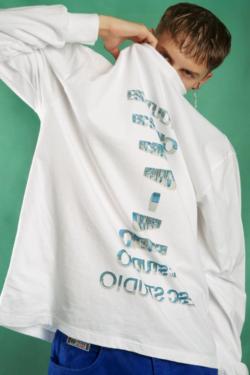 Logo long sleeves (white)