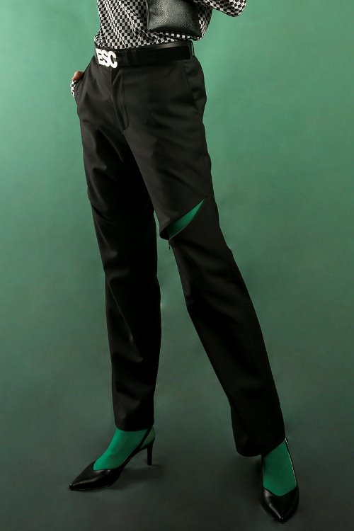 Zipper slacks (black)