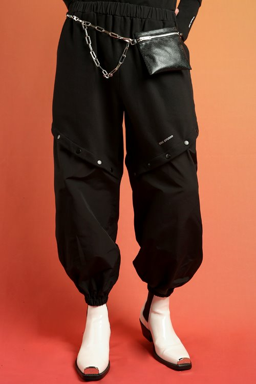 Snap training pants(black)