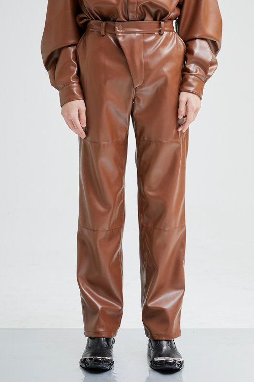 Leather pants (camel)