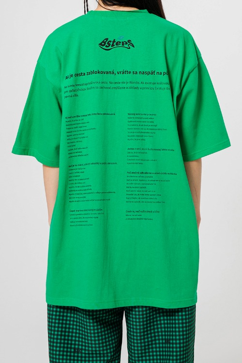 Bsteps back printing t-shirt (green)