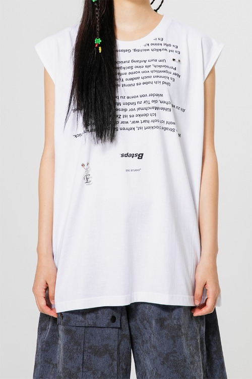 Lettering sleevess(white)